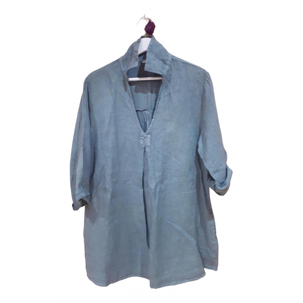 - Robe   pour femme en lin - vert