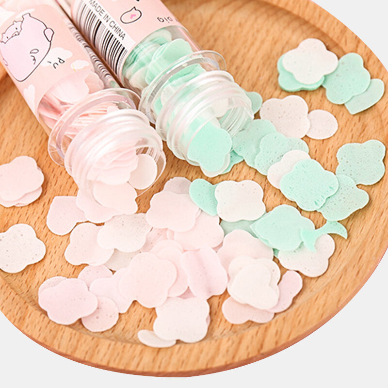 Portable Disposable Hand Soap Paper Soap Flakes Test Tube Bottle Cartoon Flower Hand Soap Paper
