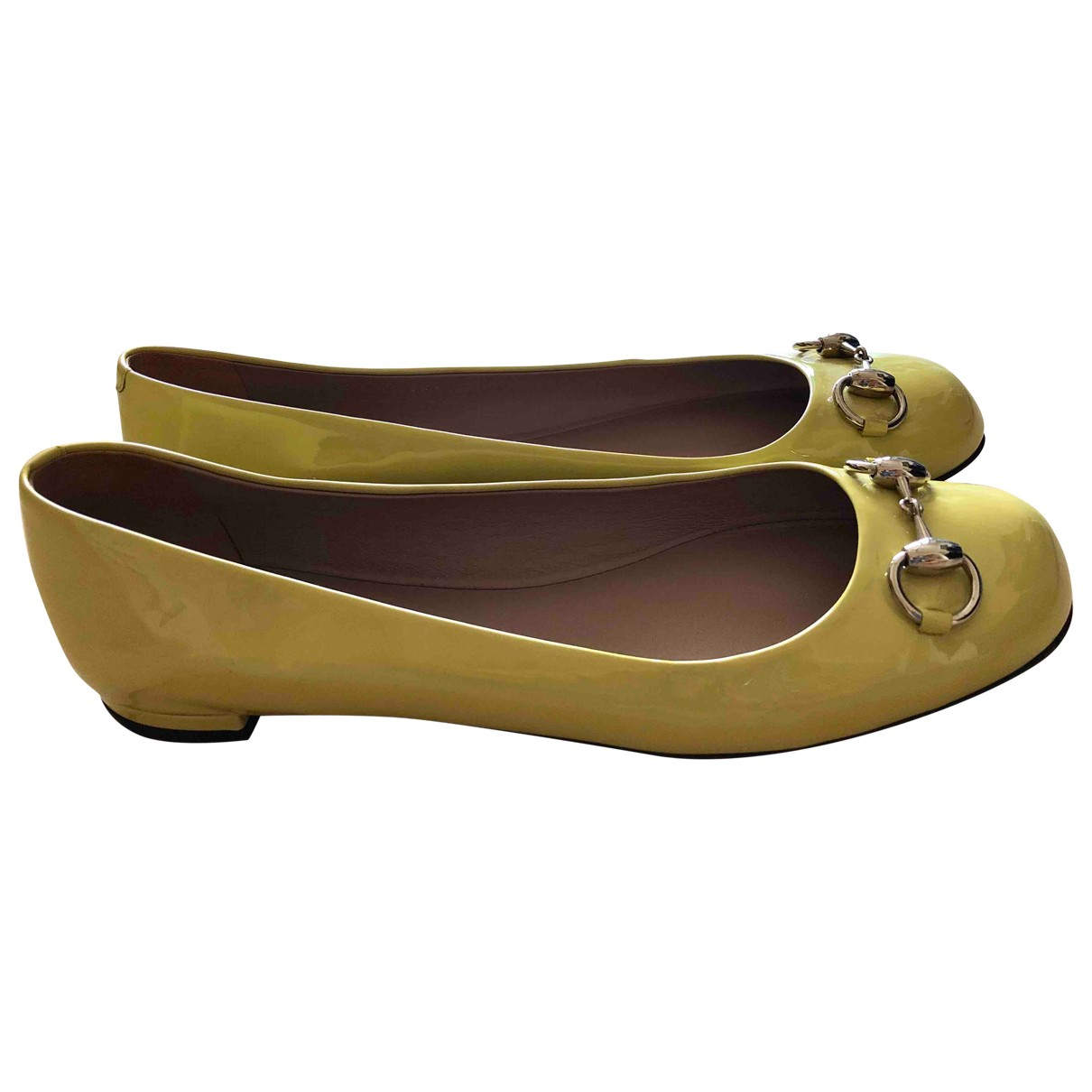 Gucci \N Yellow Patent leather Ballet flats for Women 38.5 EU
