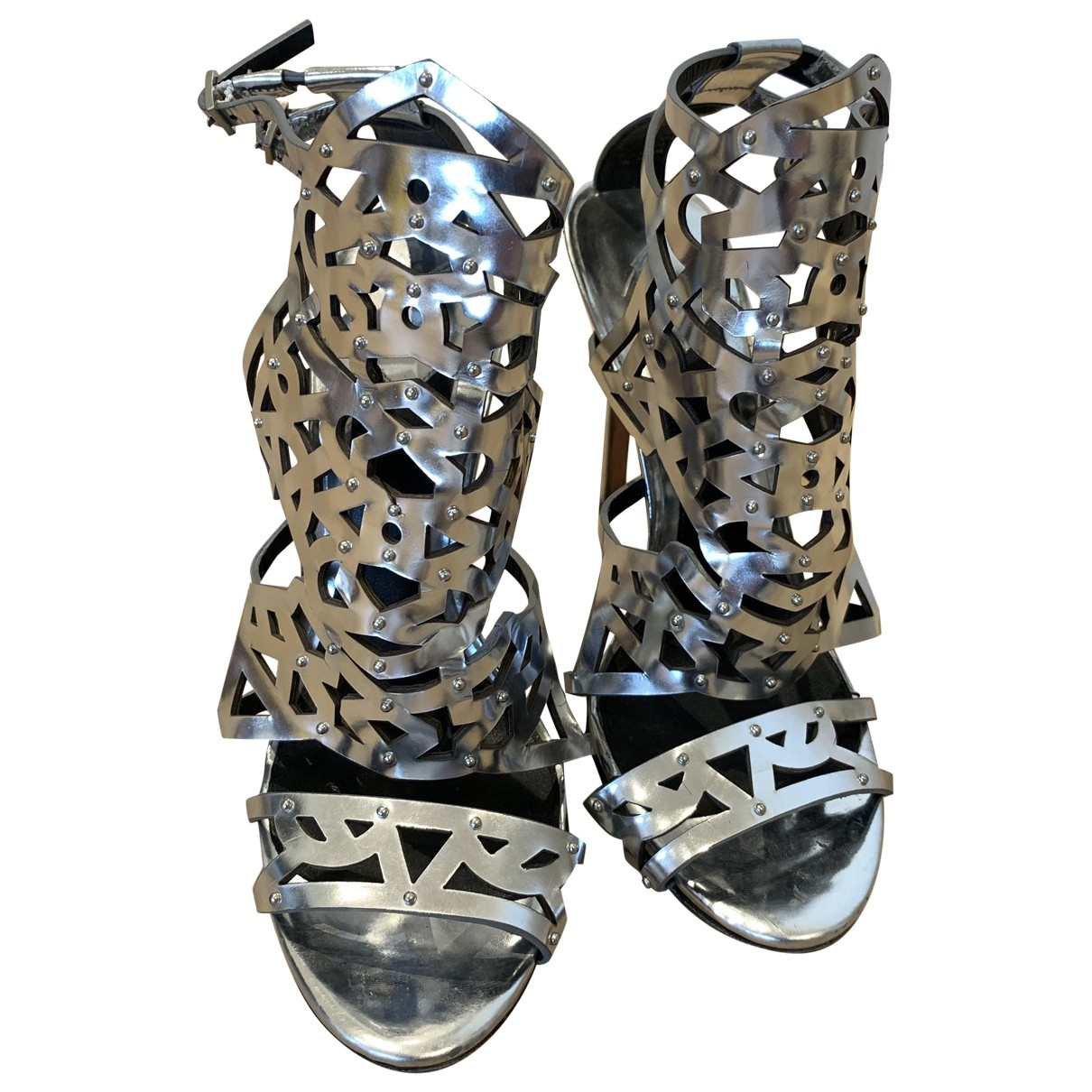 Brian Atwood \N Sandalen in  Metallic Lackleder