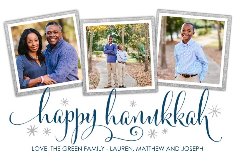 Hanukkah Photo Cards 5x7 Cards, Premium Cardstock 120lb, Card & Stationery -Hanukkah Sparkle