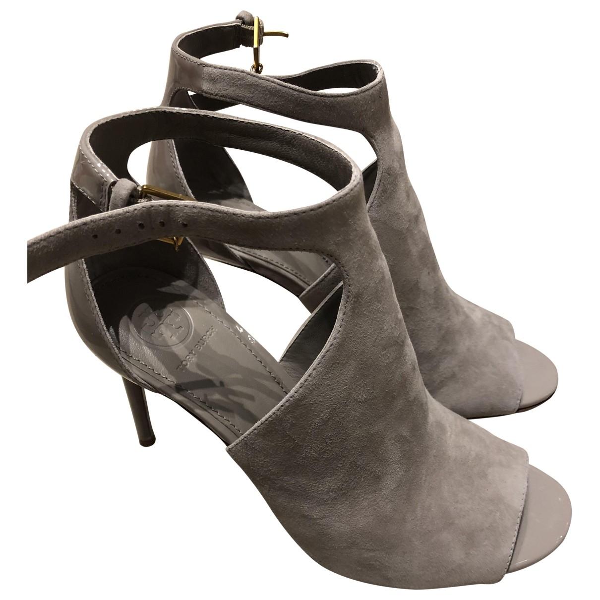 Tory Burch - Boots   pour femme en suede - gris
