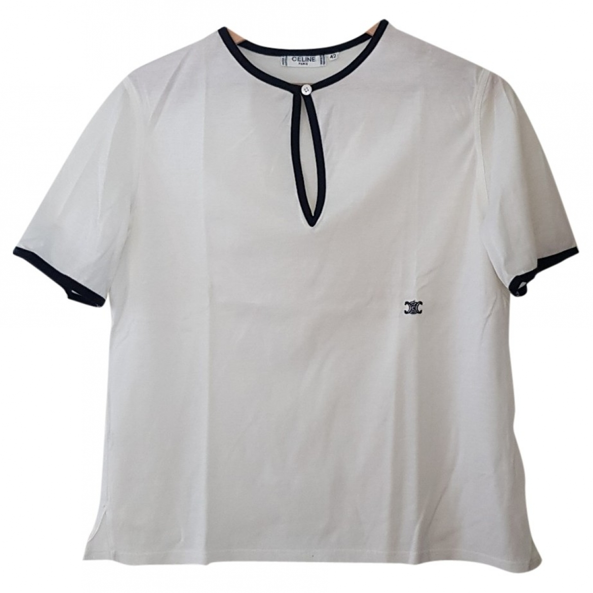 Celine \N White Cotton  top for Women 42 FR