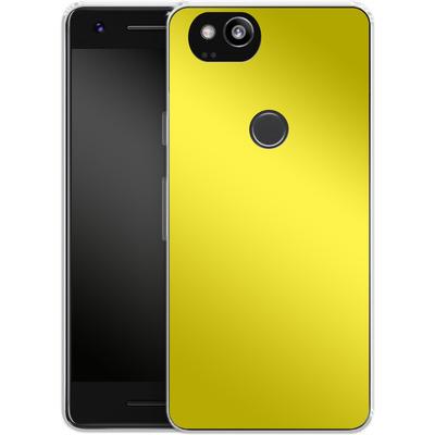 Google Pixel 2 Silikon Handyhuelle - Test Yellow von caseable Designs