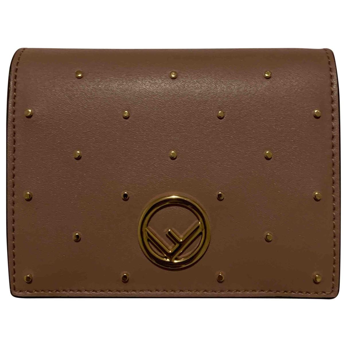Fendi \N Beige Leather wallet for Women \N