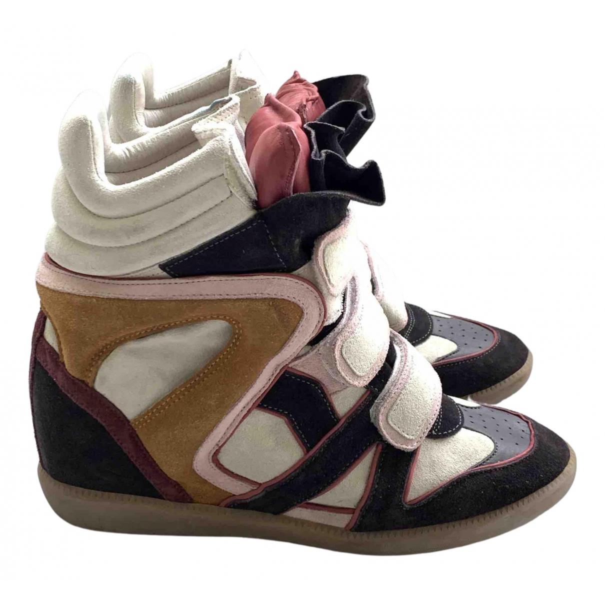 Isabel Marant Willow Sneakers in  Bunt Veloursleder