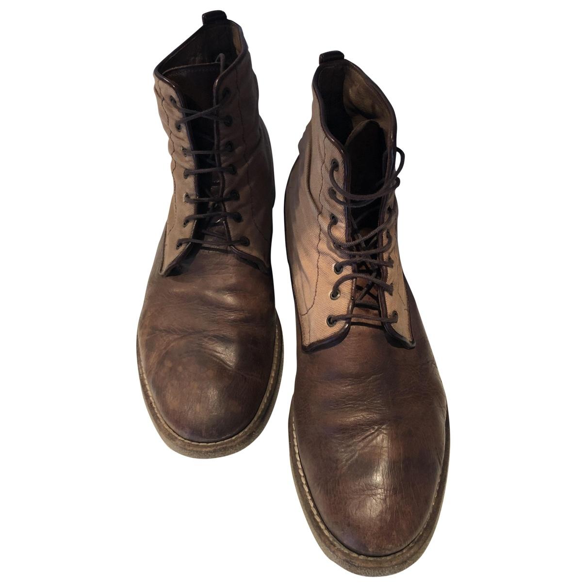 Fratelli Rossetti - Bottes.Boots   pour homme en cuir - marron