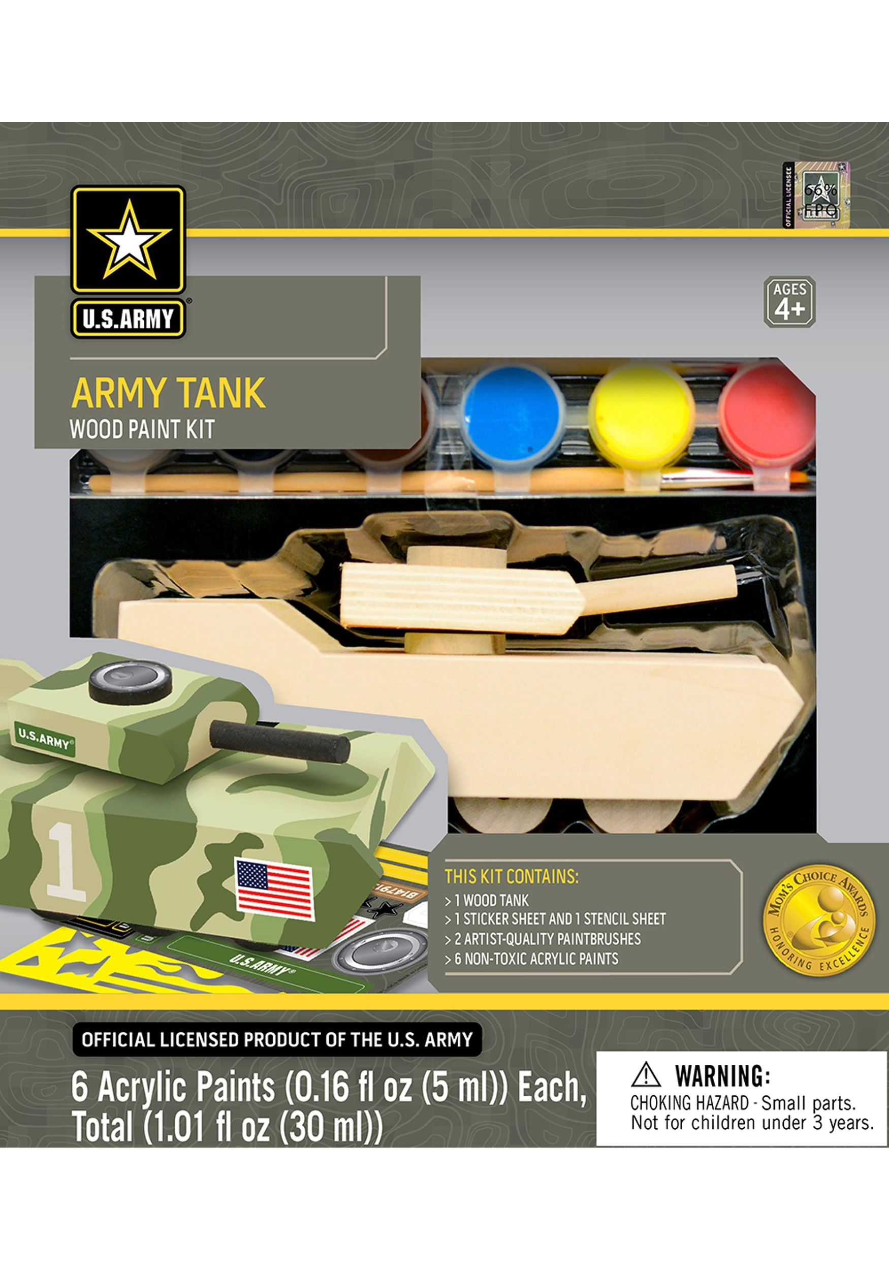 U.S. Army Tank Wood Paint Set