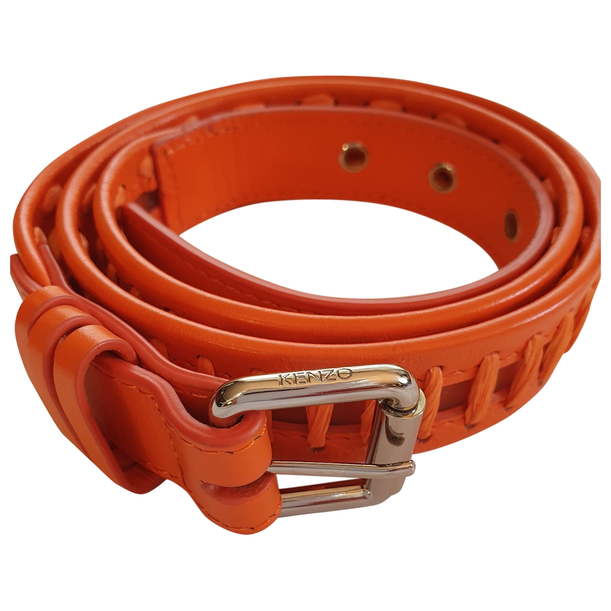 Kenzo \N Orange Leather belt for Women M International