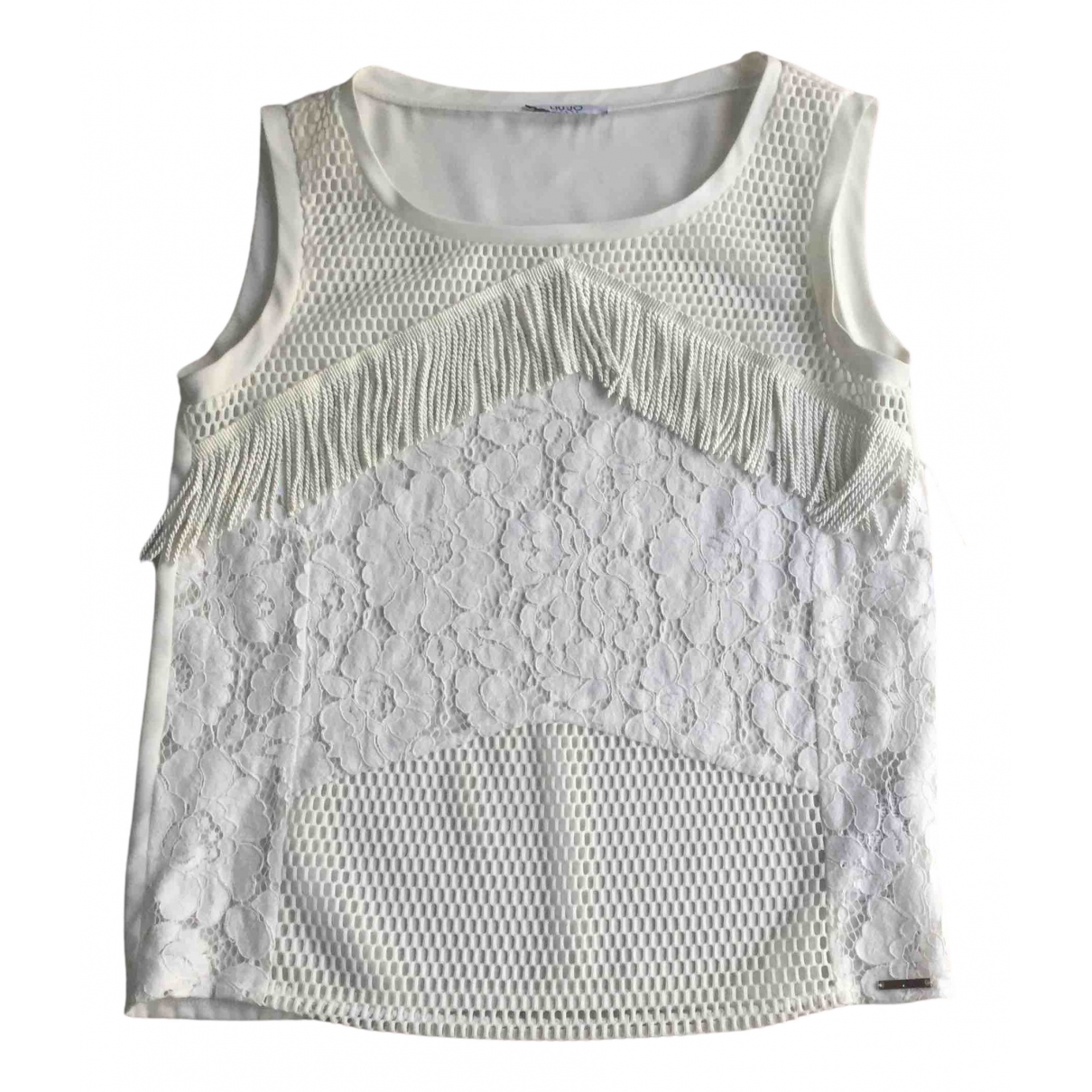 Liu.jo - Top   pour femme en dentelle - blanc