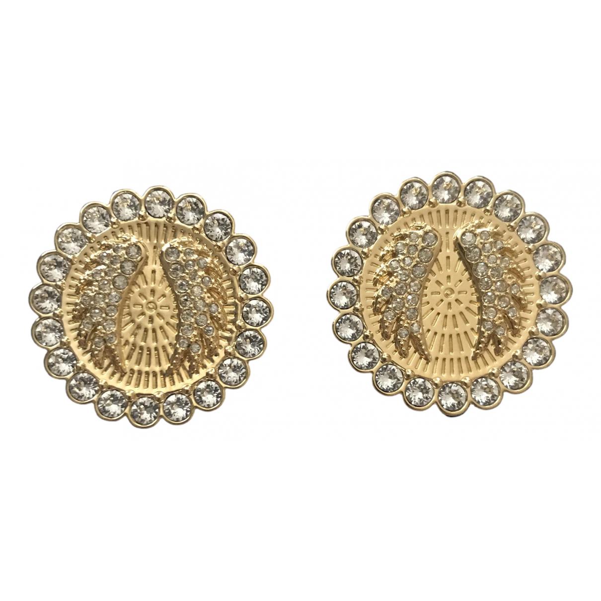 Swarovski - Boucles doreilles   pour femme en metal - dore