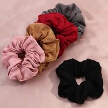 5pcs Simple Plain Scrunchie