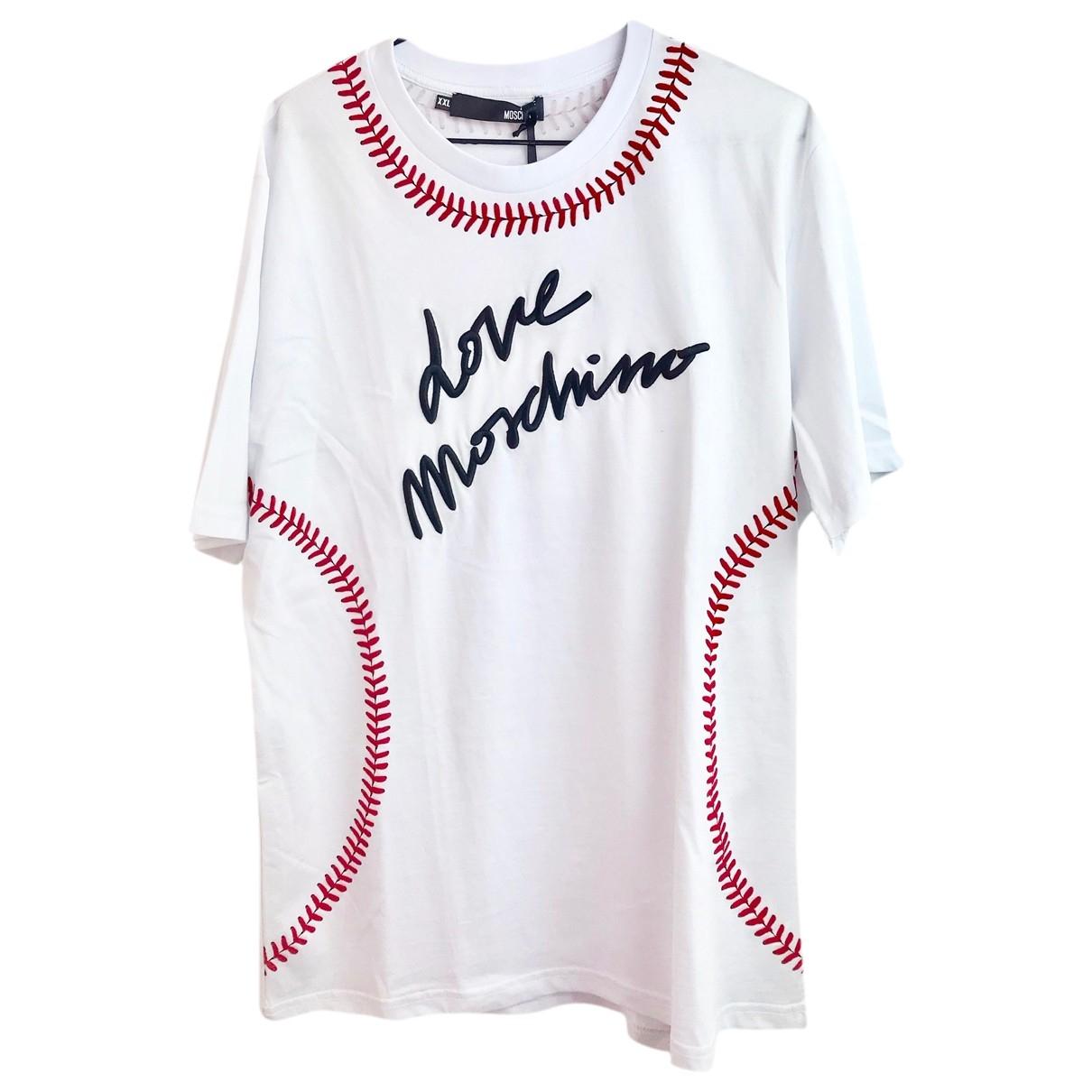 Moschino Love - Tee shirts   pour homme en coton - blanc