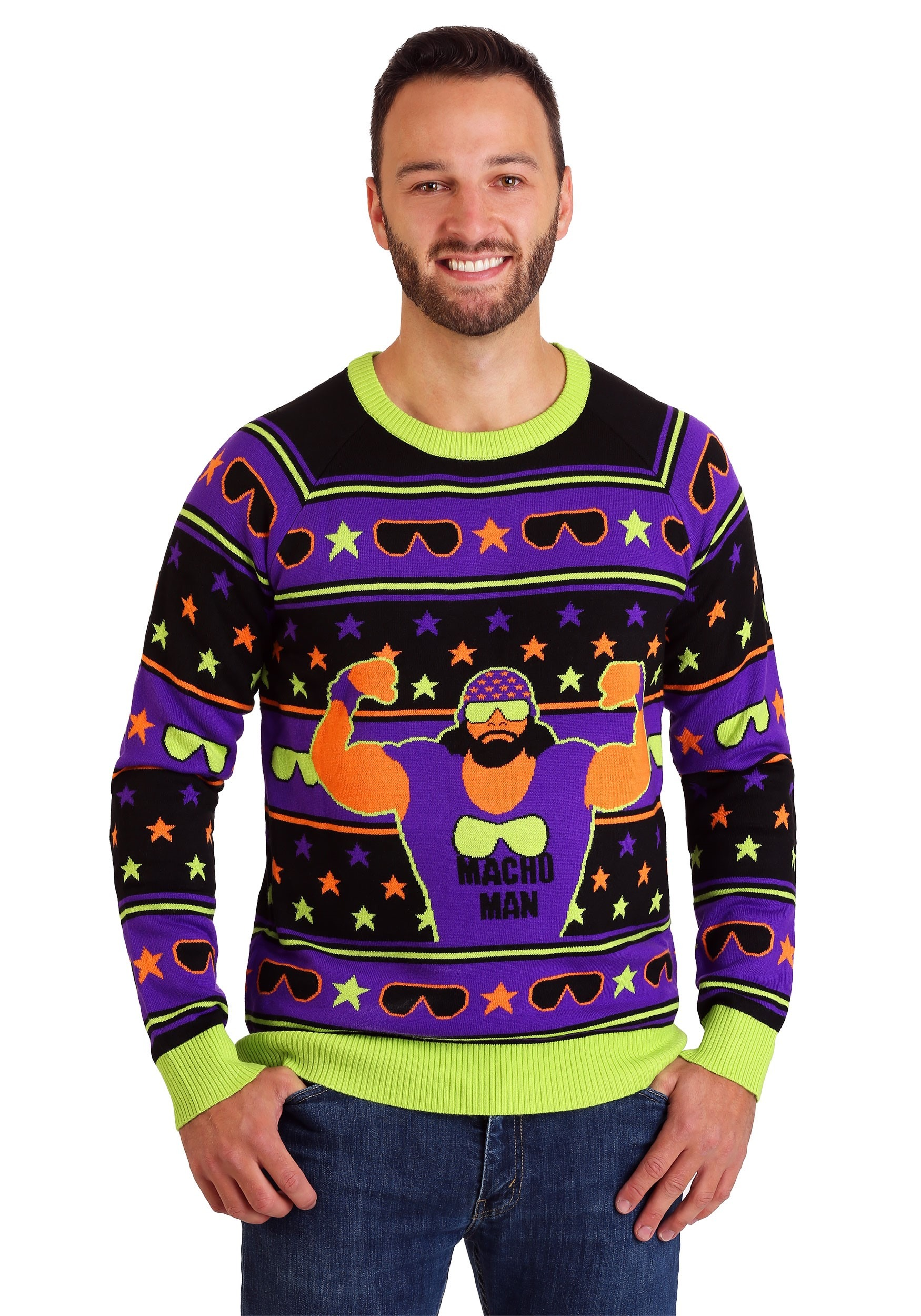 WWE Macho Man Ugly Christmas Sweater for Adults