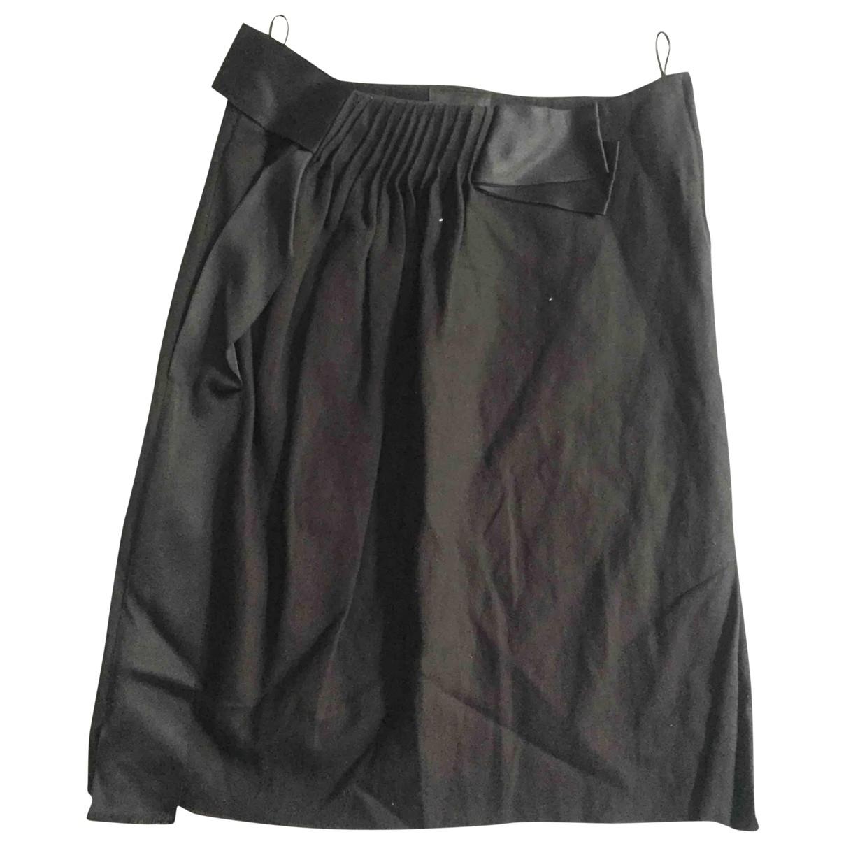 Lanvin - Jupe   pour femme en laine - noir