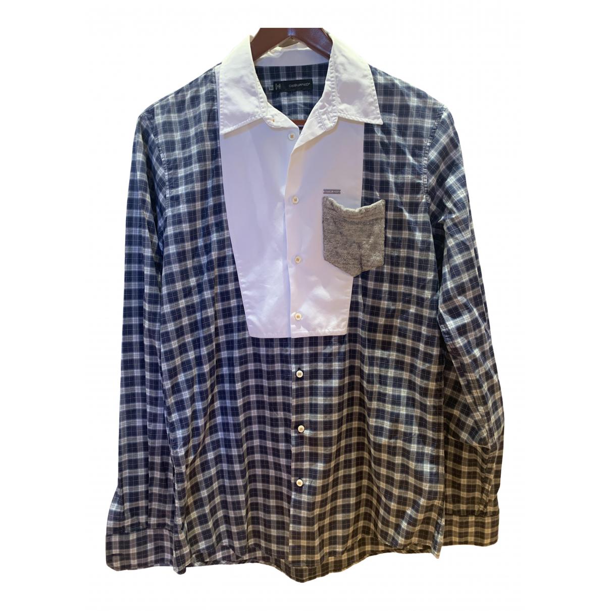 Dsquared2 N Blue Cotton Shirts for Men L International