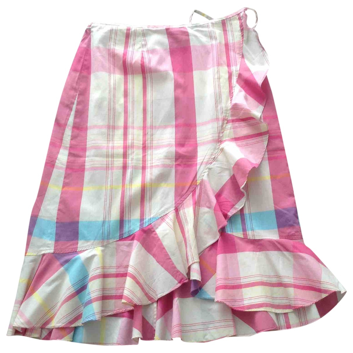 Non Signé / Unsigned \N Pink Cotton skirt for Women M International