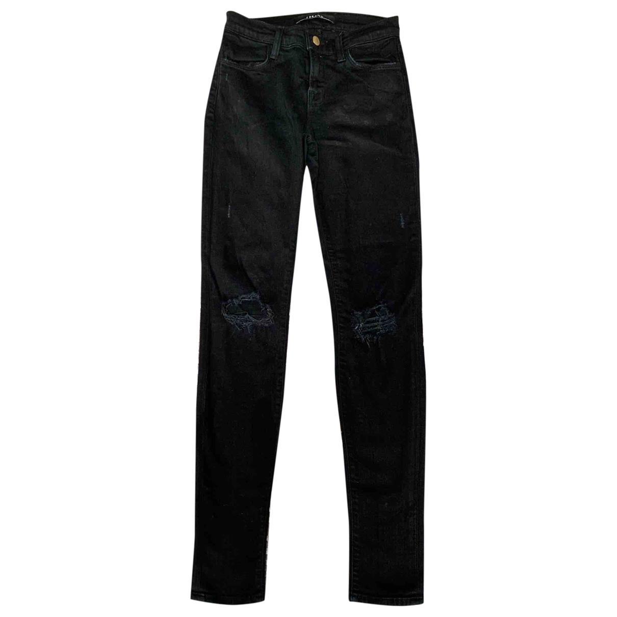 J Brand \N Black Cotton - elasthane Jeans for Women 25 US