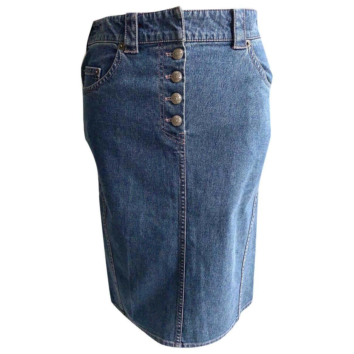 Dior \N Blue Denim - Jeans skirt for Women 36 FR