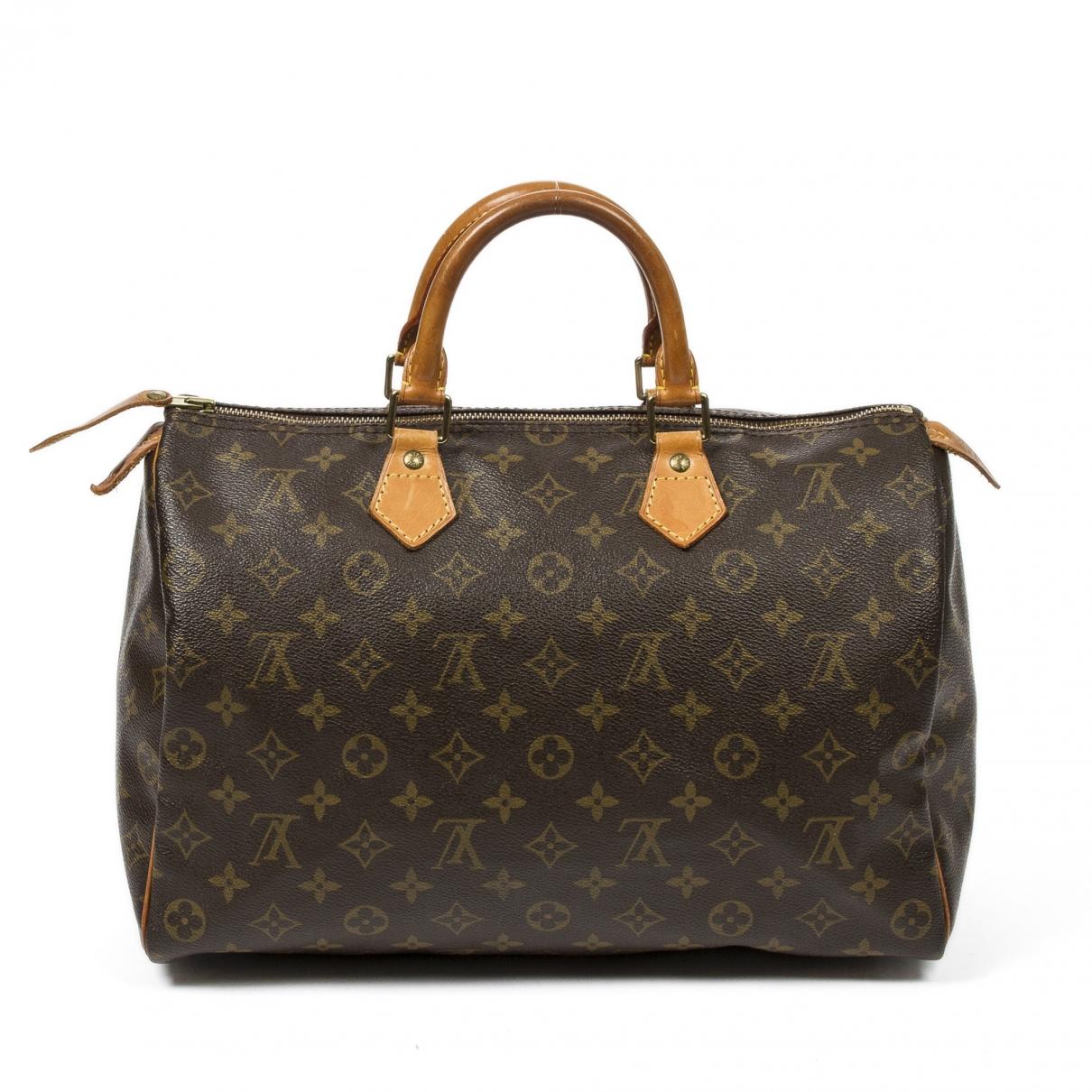 Louis Vuitton Speedy Brown Leather handbag for Women \N