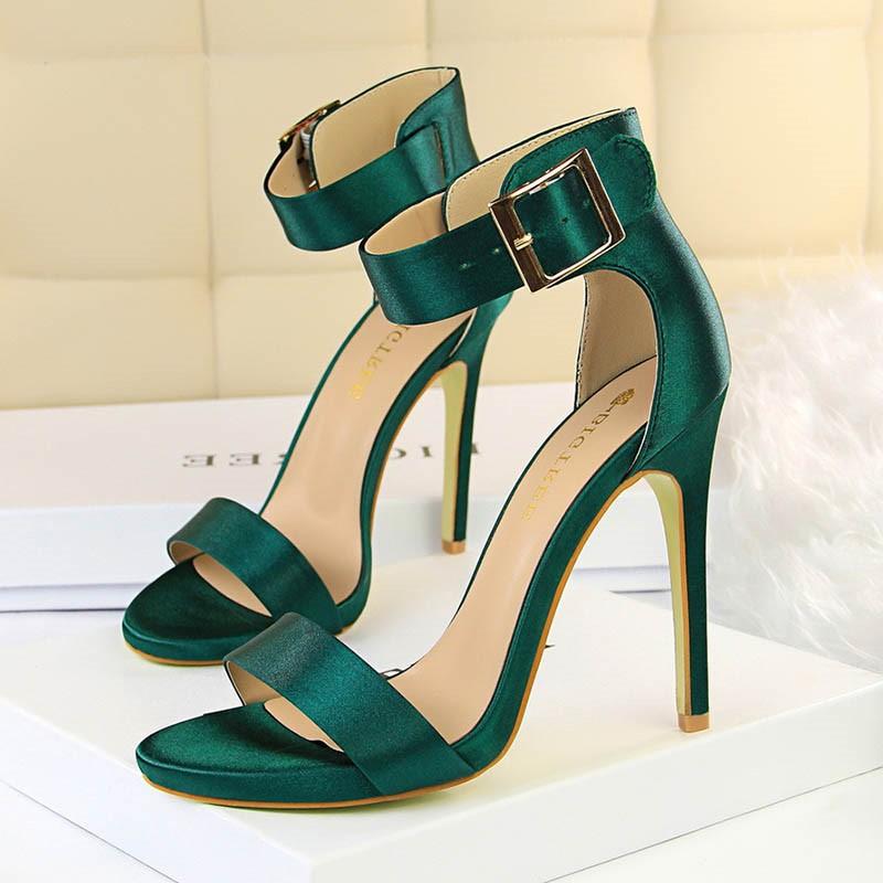 Ericdress Silk Fabric Heel Covering Stiletto Heel Women's Sandals