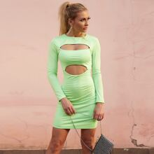 Cutout Slim Fitted Dress