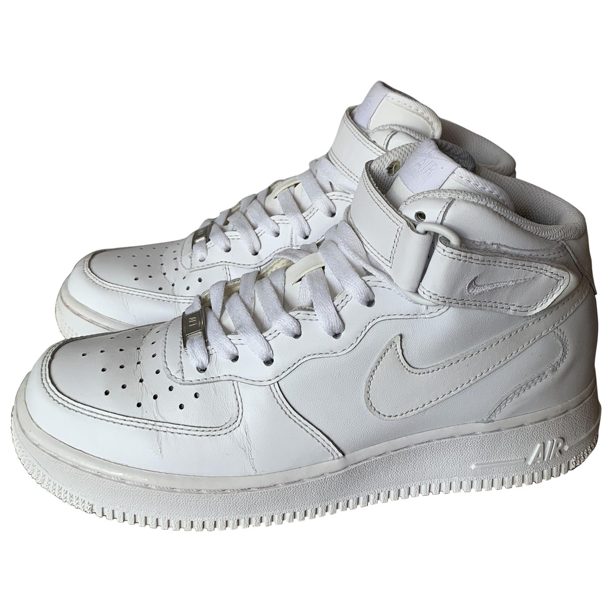 Nike Air Force 1 Sneakers in  Weiss Leder