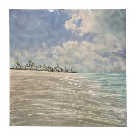 Stylecraft Coastal Blue And Gray Aluminum Canvas Art, One Size , Multiple Colors