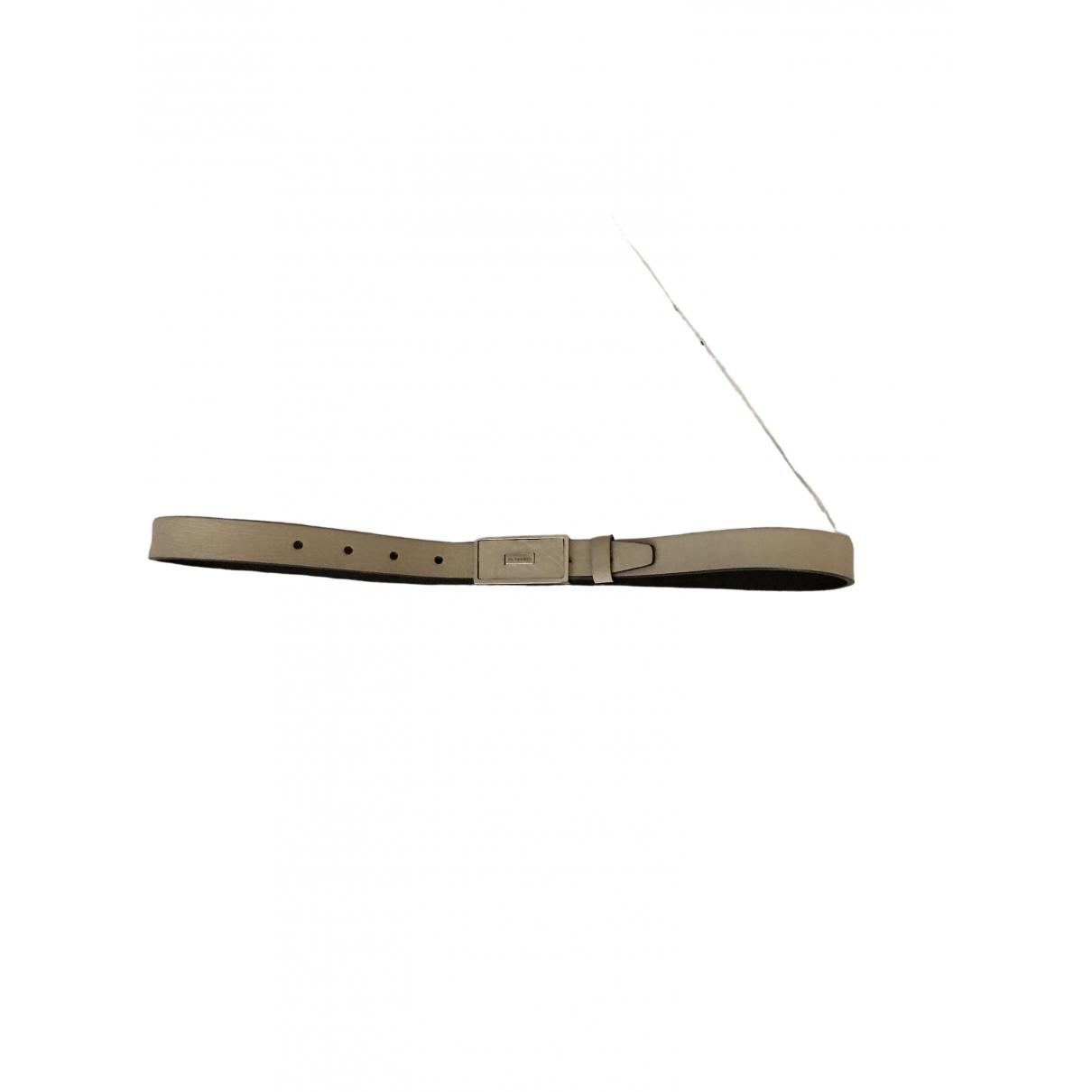 Jil Sander \N Ecru Leather belt for Women 70 cm