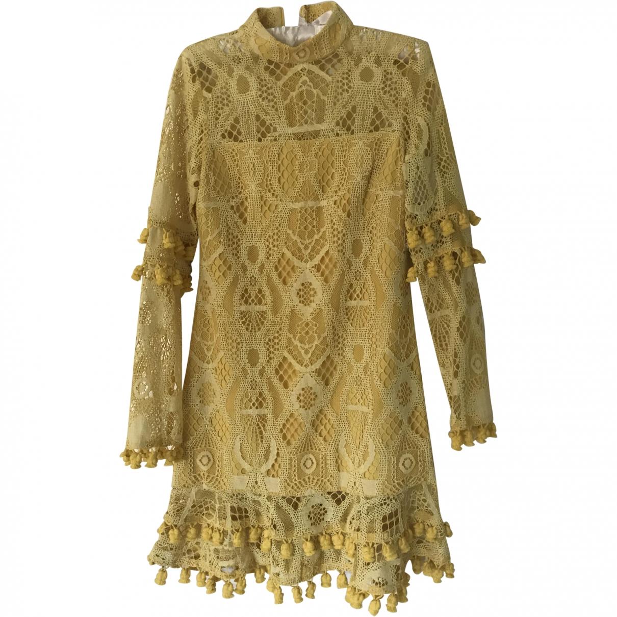 Alexis \N Kleid in  Gelb Spitze