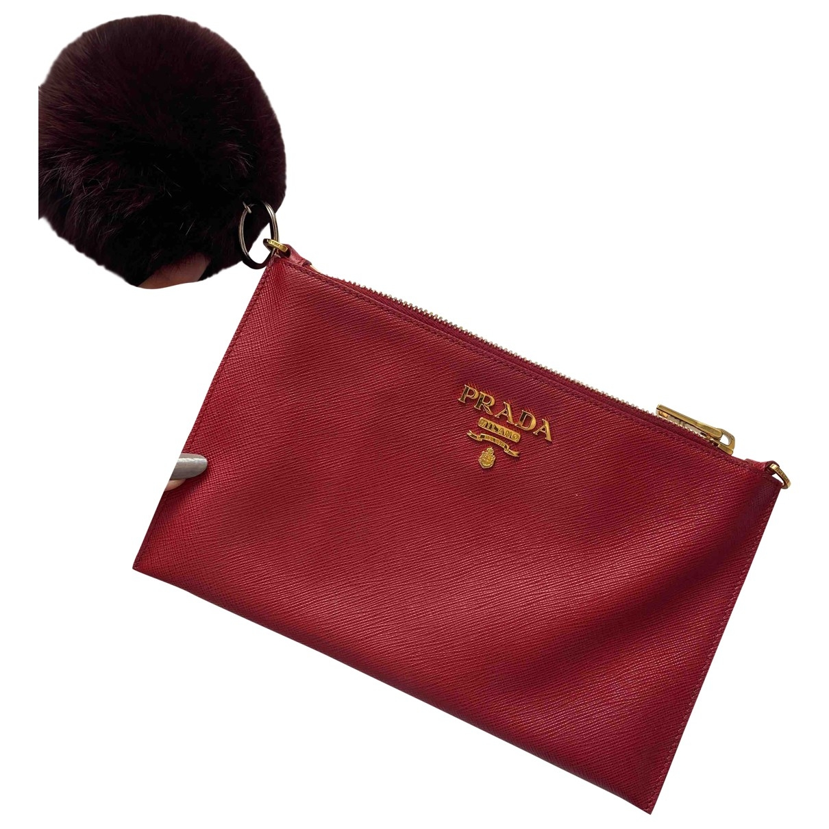 Prada \N Red Leather Clutch bag for Women \N