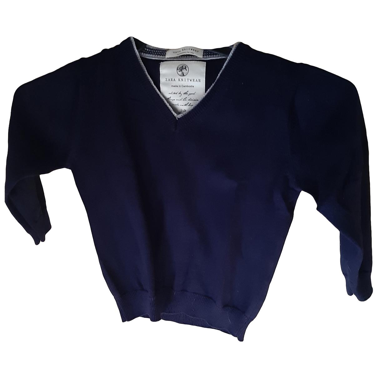 Zara - Pull   pour enfant en coton - bleu