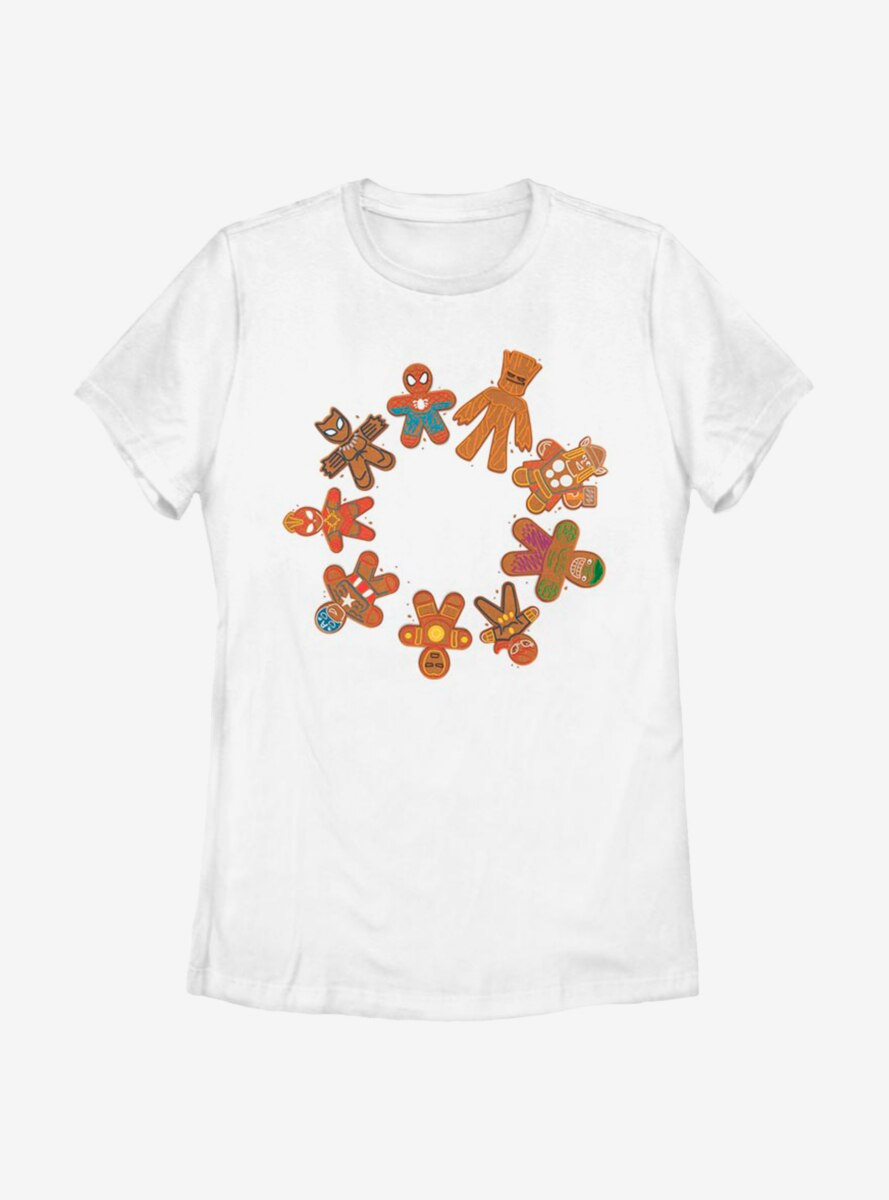Marvel Avengers Cookie Circle Womens T-Shirt