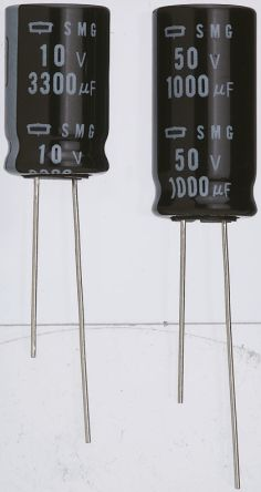 Nippon Chemi-Con 2.2μF Electrolytic Capacitor 50V dc, Through Hole - ESMG500ELL2R2ME11D (5)