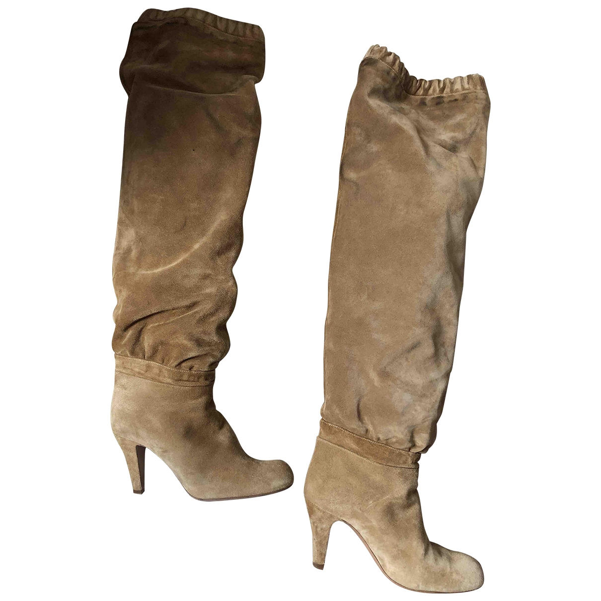Chloé \N Camel Suede Boots for Women 36 EU