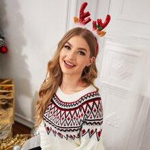 Aro de pelo con diseño de cornamenta de Navidad