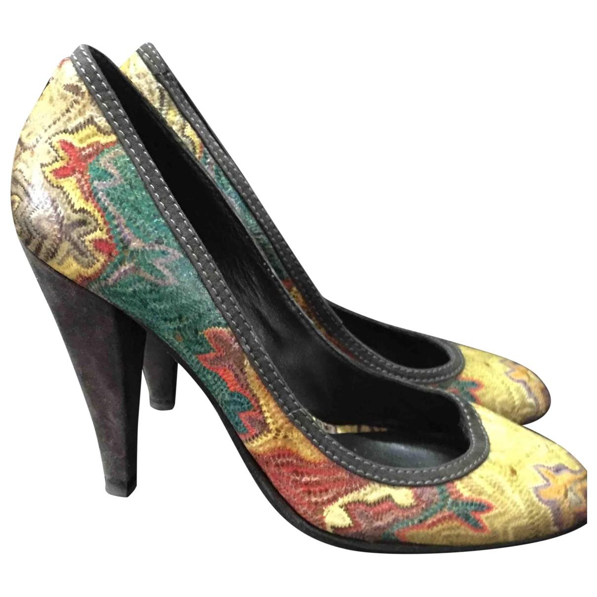 Missoni \N Leather Heels for Women 38 EU