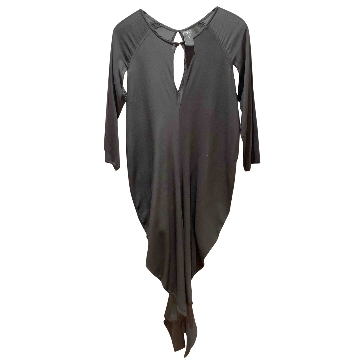 Zero+maria Cornejo \N Kleid in  Schwarz Baumwolle - Elasthan