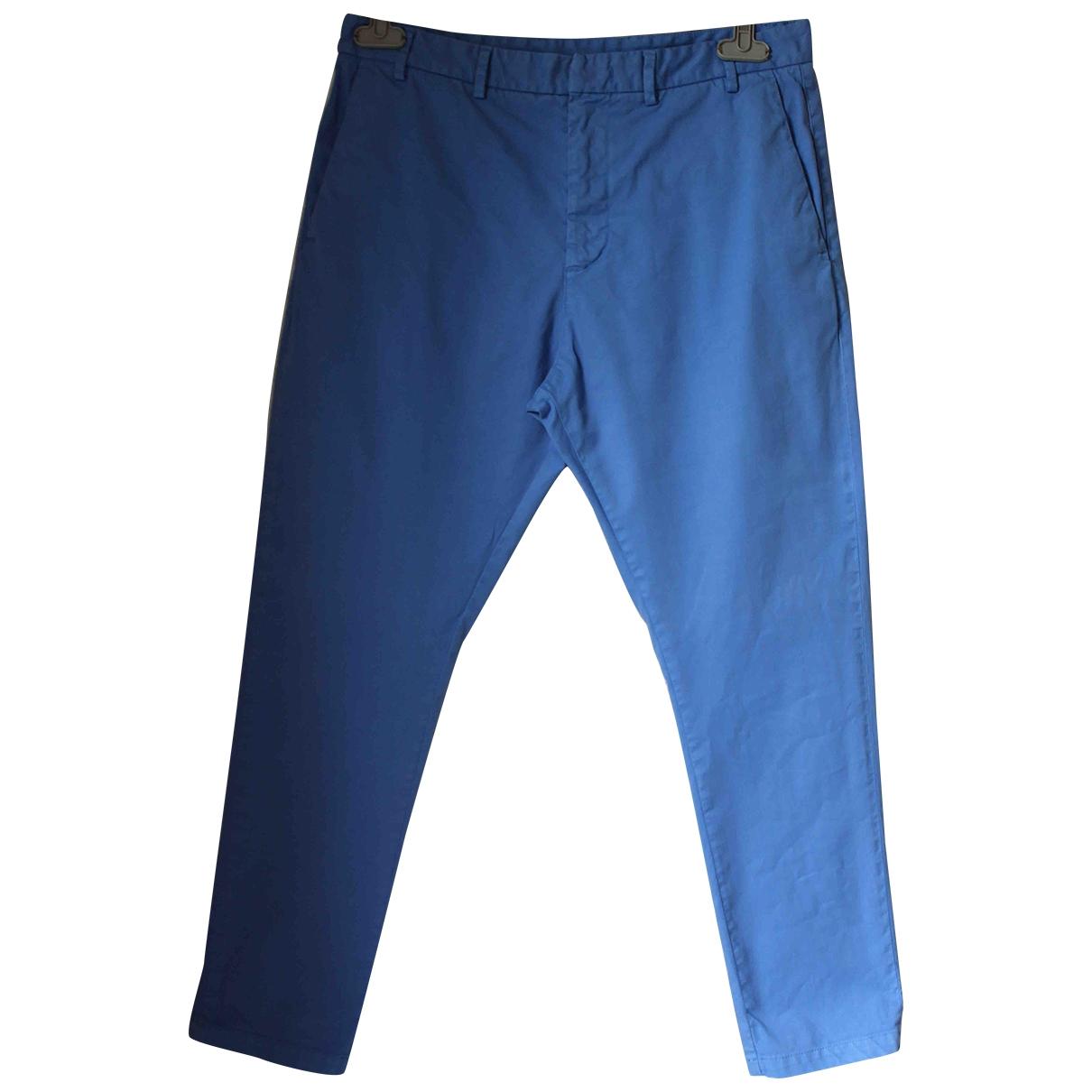 N°21 \N Blue Cotton Trousers for Men 48 IT