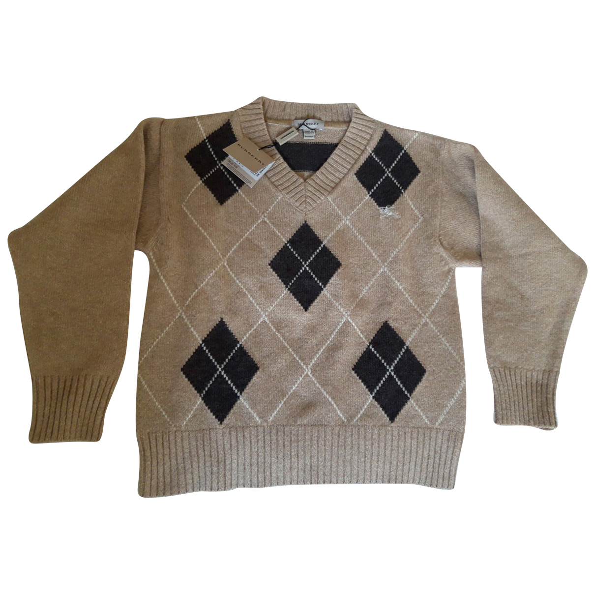 Burberry \N Pullover, StrickJacke in  Kamel Wolle