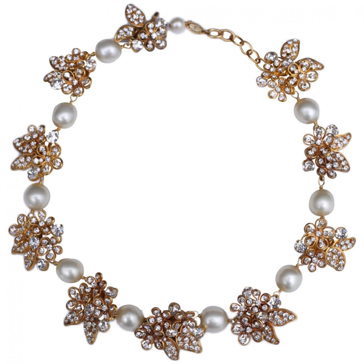 Chanel Baroque Kette in  Gold Metall
