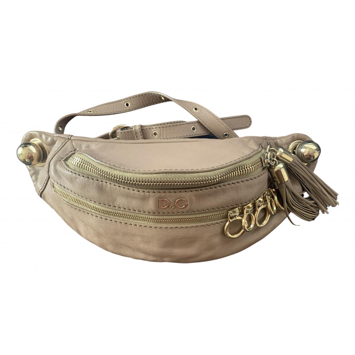 D&g N Beige Leather handbag for Women N