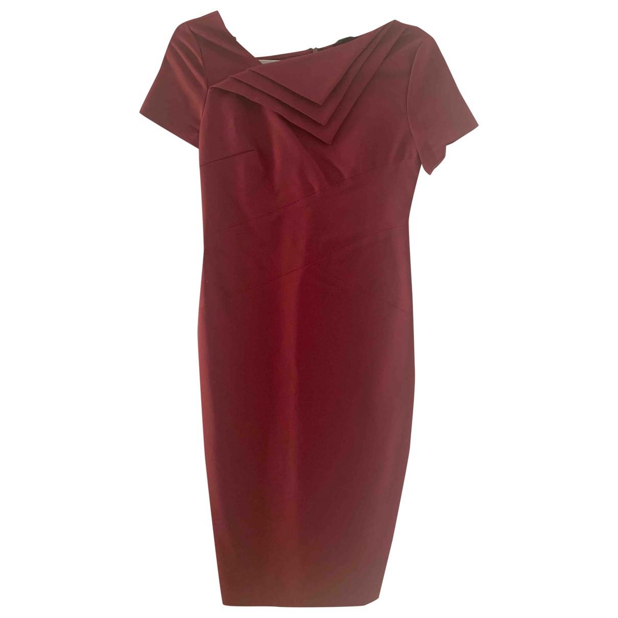 Raoul - Robe   pour femme en coton - elasthane - bordeaux