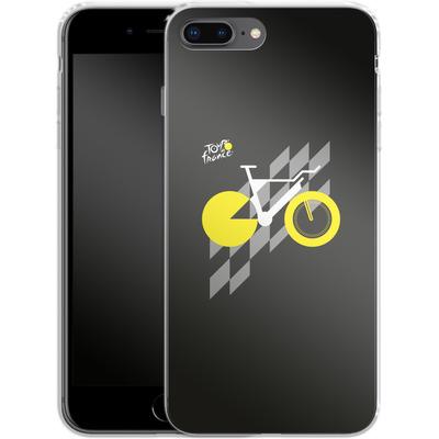 Apple iPhone 7 Plus Silikon Handyhuelle - Yellow Bike von Le Tour de France