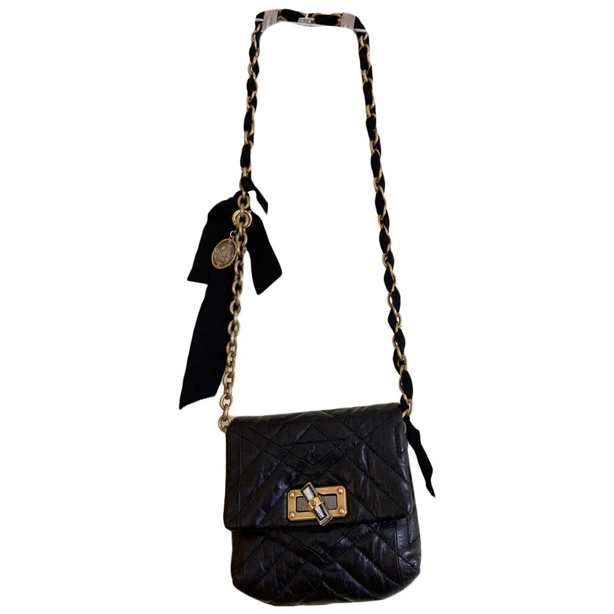 Lanvin Happy Handtasche in  Schwarz Leder