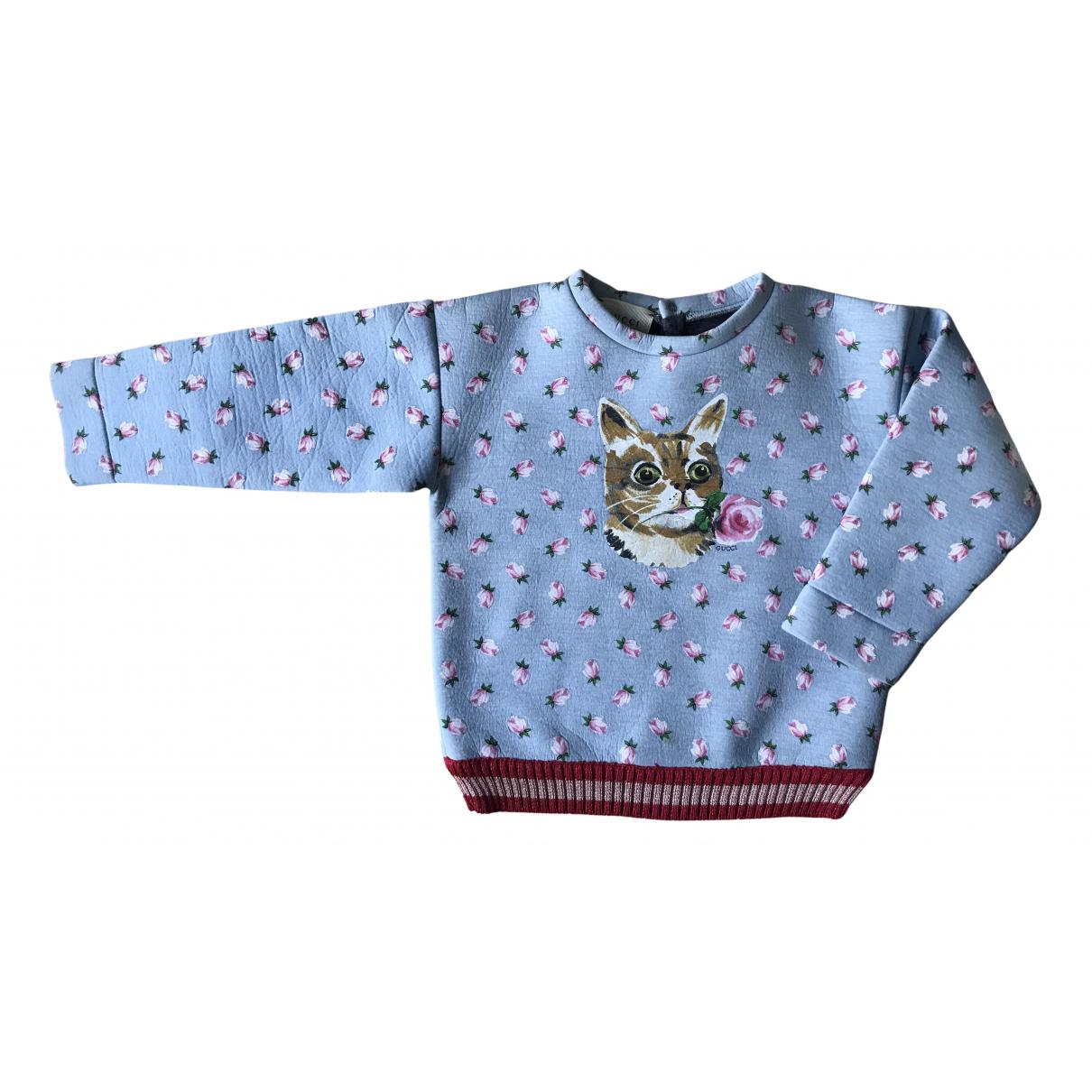 Gucci - Pull   pour enfant en coton - turquoise