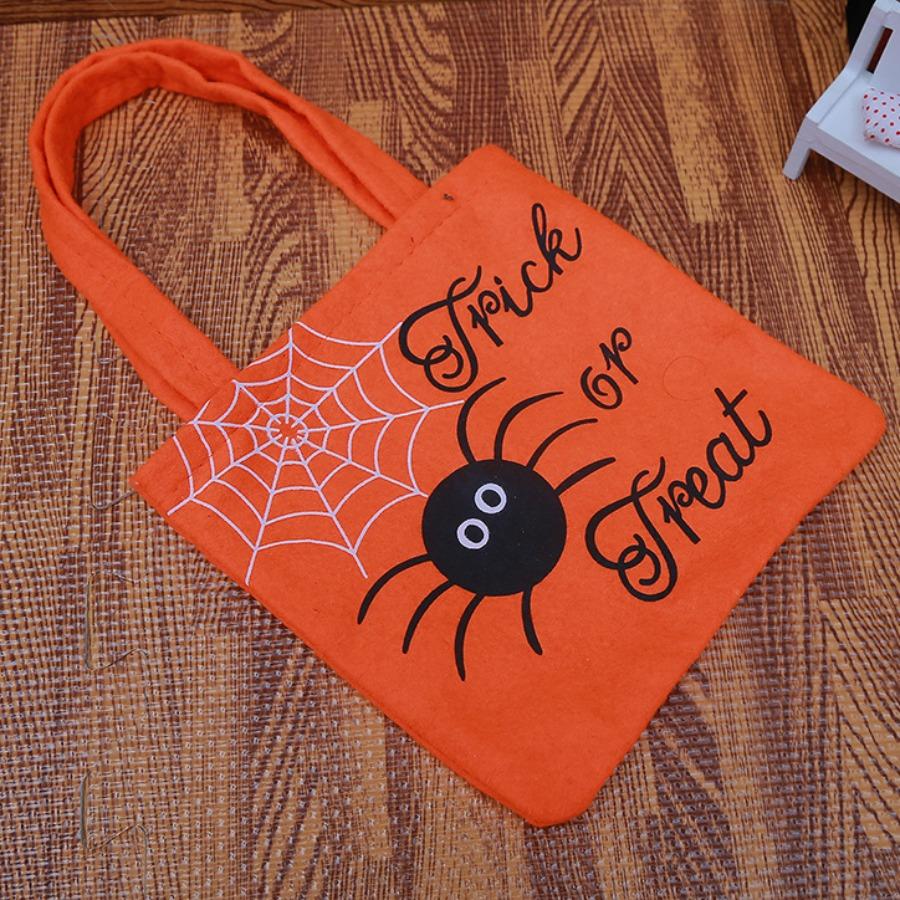 LW lovely Chic Cartoon Print Orange Gift Bag