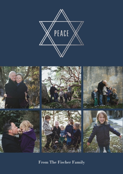 Hanukkah Photo Cards 5x7 Cards, Premium Cardstock 120lb with Scalloped Corners, Card & Stationery -Peace At Hanukkah