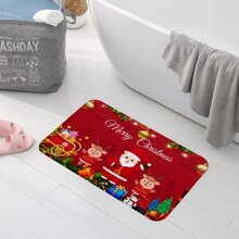 Santa Claus Print Floor Mat