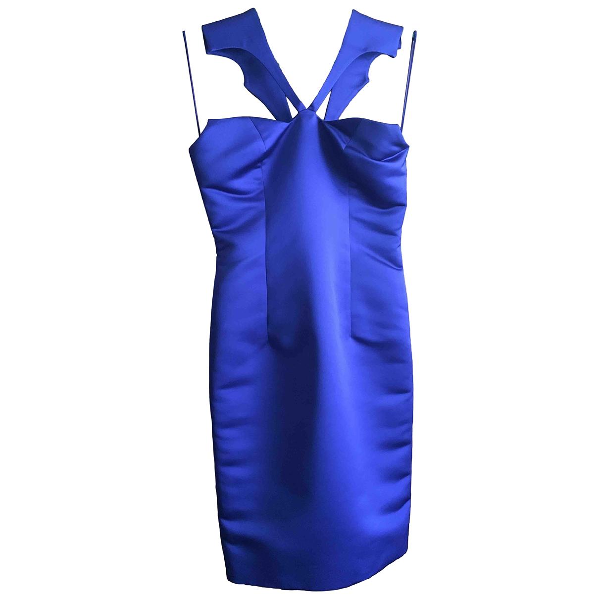 Cushnie Et Ochs \N Kleid in  Blau Seide